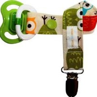 Boys Pacifier Clip Modern Owls