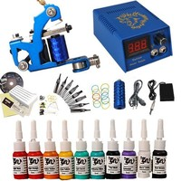 Professional Complete Tattoo Kit 1 Top Machine Gun 10 Color Ink 50 Needles Power Supply: Amazon.ca: Electronics