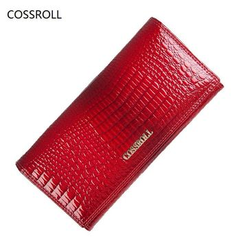 famous brand women wallets genuine leather long purse luxury brand women wallet real leather ladies coin purse
