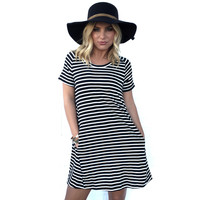 Brink Stripe & Ribbed Shift Dress