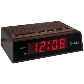 Westclox(R) 22690 .6 Retro Wood Grain LED Alarm Clock