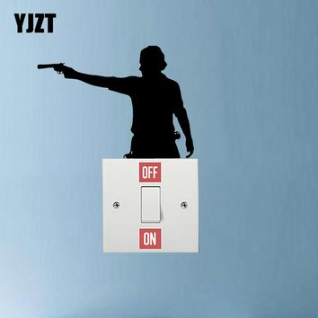Zombie The Walking Dead Rick Grimes Vinyl Switch Sticker Room Home Wall Decal 7SS0468