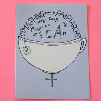 My Cup of Tea Sticker by ModernGirlBlitz on Etsy