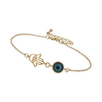 HAND AND EYE CHARM ANKLET
