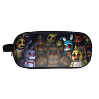 Five Nights Night's At Freddy Freddies Freddy's cover Pencil case School work office accessories holder wallet purse bag  2 3 4 game movie