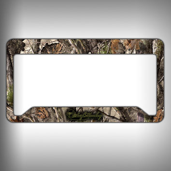 Wooded Camo Custom Licence Plate Frame Holder Personalized Car Accessories