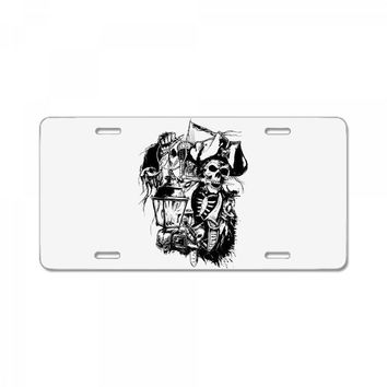 skull pirate License Plate
