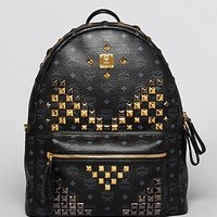 MCM Large Stark Studded Backpack