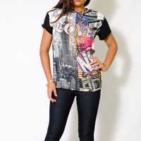 (aly) Graffiti New York graphic t shirt