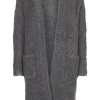 PETITE Boucle Cardigan - Charcoal