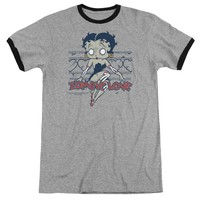 Betty Boop - Zombie Pinup Adult Ringer