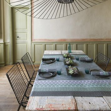 Bastide Coated Table Linens in Grey