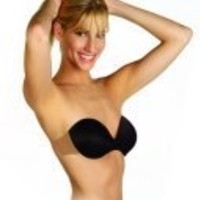 TOTALLY STRAPLESS AND BACKLESS SELF-ADHESIVE BRA. SIZE: D