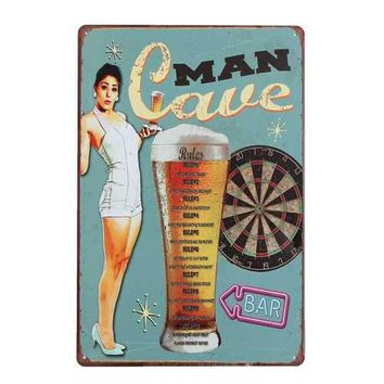 Man Cave Sheet Metal Tin Sign