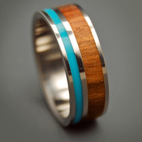 Wooded Cove - Wooden Wedding Rings