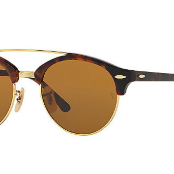 Ray-Ban RB4346 CLUBROUND DOUBLE BRIDGE Sunglasses | Sunglass Hut