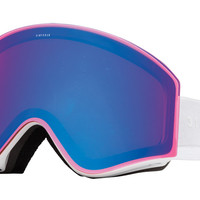 Electric - EGX Gloss White Goggles, Rose/Blue Chrome Lenses