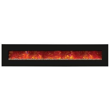 Amantii Advanced Built-in/Wall Mounted Electric Fireplace (WM‐BI‐106‐11524‐BLKGLS)