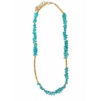 Circle & Square | Apatite Nugget Necklace