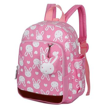 Boys Backpack Bag BOSEVEV Cartoon  for Children Kindergarten Nylon Children School Bags Rabbit Printing Baby Girls School  AT_61_4