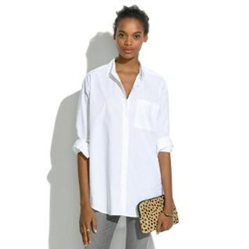 Oversized Button-Down Shirt - shirts & tops - Women's NEW ARRIVALS - Madewell
