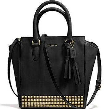 COACH Legacy Studded Leather Mini Tanner
