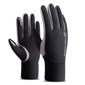 Outdoor Thickened Touch Screen Full-fingered Windproof Warmer Fleece-lined Gloves for Riding Skiing Snowboard Gloves