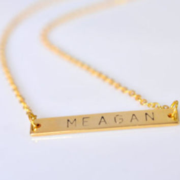 ON SALE! Personalized necklace, Bar necklace, Gold Bar Necklace, Name Plate bar, Initial necklace, Personaized bar necklace, mothers gift