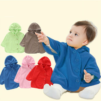 Top Quality Combi Baby Coats Boys Smocks Outwear Girl's Winter Fleece Cloak Children's Hoodies Clothing Windbreaker Poncho Cape