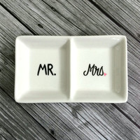 Ring Dish - His and Hers Wedding Ring Holder
