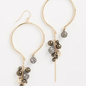 Bead Cluster Arc Earrings
