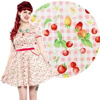 Sourpuss Gingham Cherry Hellbilly Dress