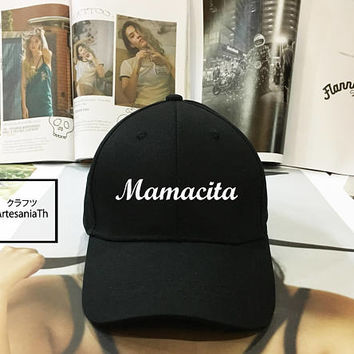Mamacita Dad Hat - Baseball Cap, Tumblr hat ,Strap Back Baseball Hat Baseball Cap , Low-Profile Baseball Cap Hat