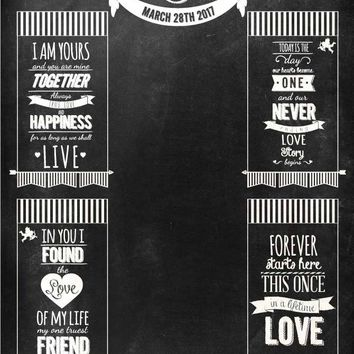 Custom Wedding Date Chalkboard Backdrop - C031