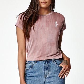 LA Hearts Rose Short Sleeve Skimmer T-Shirt at PacSun.com