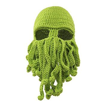 SISLYNLE 2017 Unisex Octopus Knitted Wool Ski Face Masks Event Party Halloween Knitted Hat Squid Cap Beanie Cool Gifts Mask