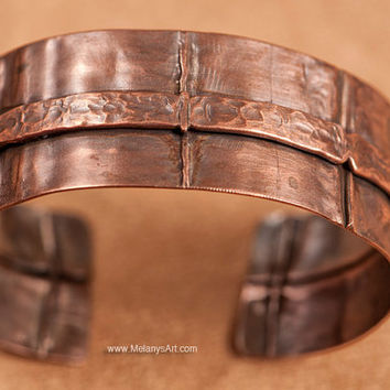 Organic Fold Formed Copper Cuff Bracelet