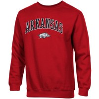 Arkansas Razorbacks Basic Crew Neck Sweatshirt - Cardinal