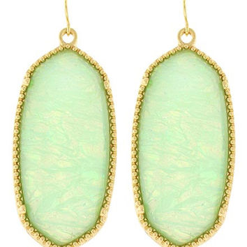 Mint Opal Earring Set