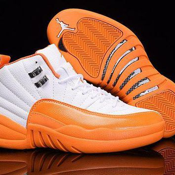 "AIR JORDAN 12 ""Cherry"" Orange/White"