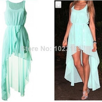 New 2014 Ladies Long Winter Chiffon Sexy Dress Warm Fashion Mint Green Summer Dress Casual Brand Dresses For Women plus size = 1932178308