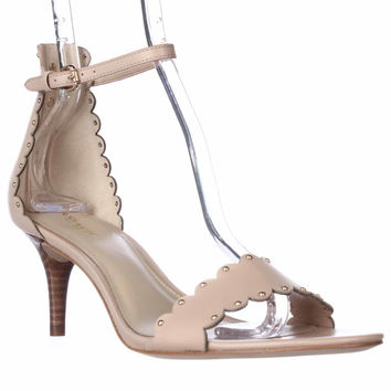 Coach Monica Scalloped Ankle Strap Sandals - Beechwood