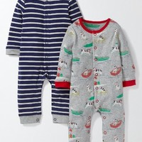Mini Boden 2-Pack Print Rompers (Baby Boys) | Nordstrom