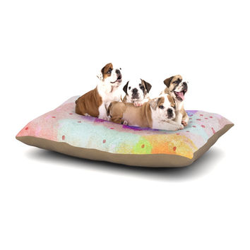 "Iris Lehnhardt ""Summer Pastels"" Multicolor Painting Dog Bed"