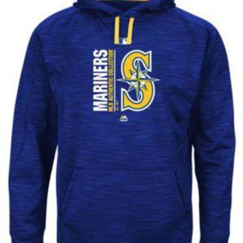 Seattle Mariners Majestic MLB Blue Ultra Streak Pullover Hoodie