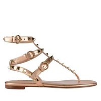 Metallic Rockstud Sandals