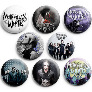 Motionless In White Immaculate Misconception Pin Badge Button 1.25 inch Pinback 8pcs