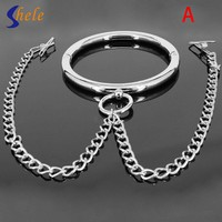 Removable Steel Slave Collars+1 Piar Nipple Clamp For Couples Toy Neck Restraints Bondage Sex Tools  Adult sex products