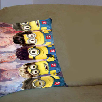 minion one direction on galaxy nebula - Pillow Case, Pillow Cover, Custom Pillow Case **