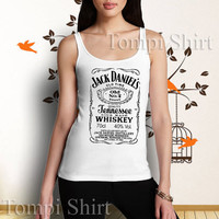 jack daniels whiskey logo black hot item tank top, for man and woman, made from 100 % preshrunk cotton
